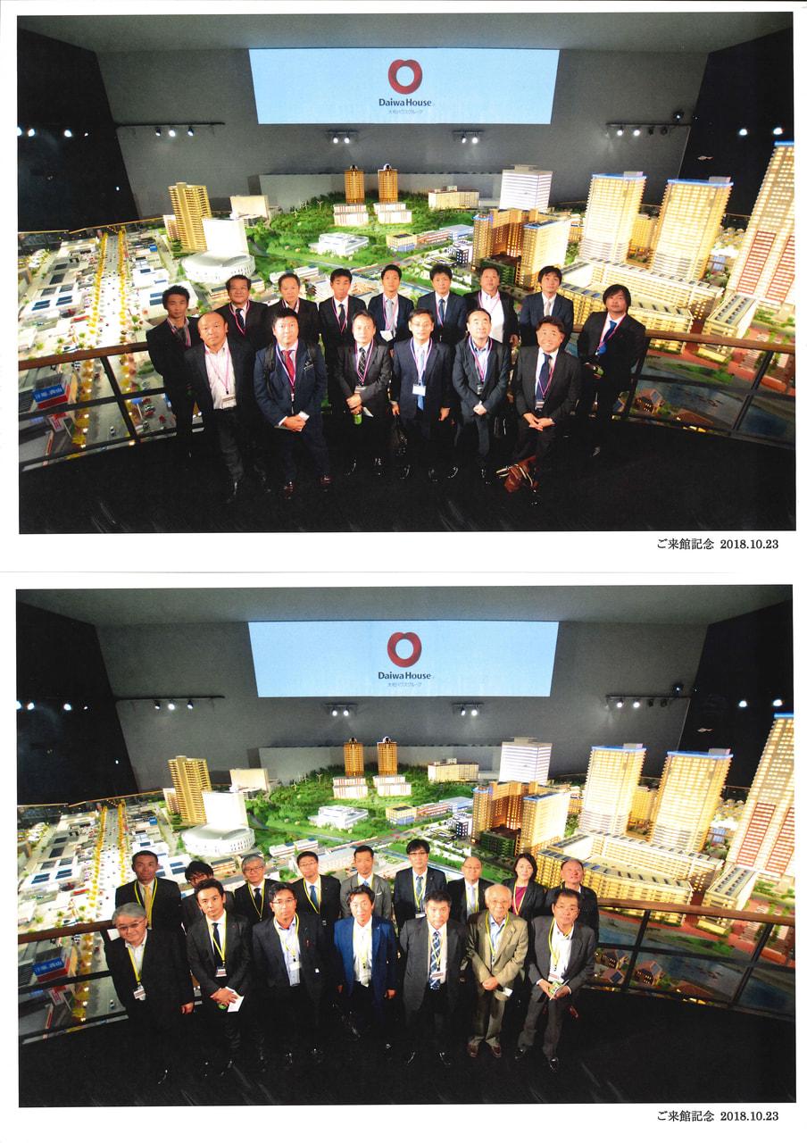 日本最大のジオラマスタジオ内にて記念撮影